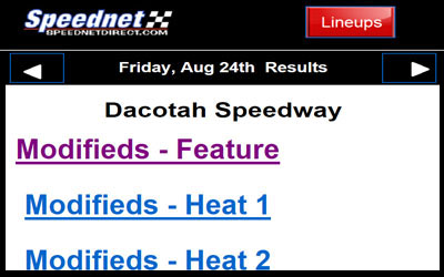 Line Ups From Speednet Direct
